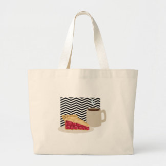 Coffee And Cherry Pie Large Tote Bag