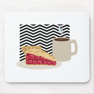Coffee And Cherry Pie Mouse Pad