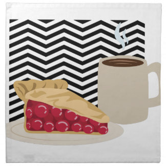 Coffee And Cherry Pie Napkin