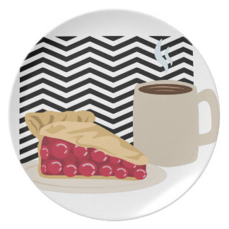 Coffee And Cherry Pie Plate