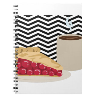 Coffee And Cherry Pie Spiral Notebook