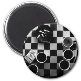 coffee and cigarettes 2 inch round magnet