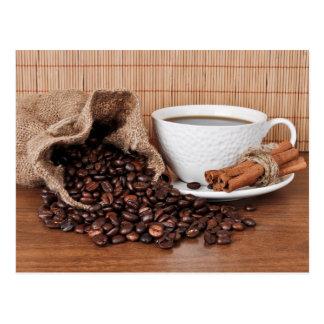 Coffee and Cinnamon Sticks Postcard
