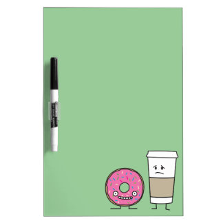 Coffee and Donut Dry-Erase Whiteboards