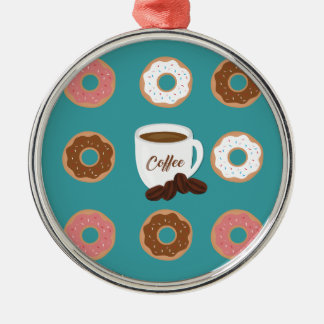Coffee and Donuts Metal Ornament