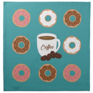 Coffee and Donuts Napkin