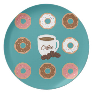 Coffee and Donuts Plate