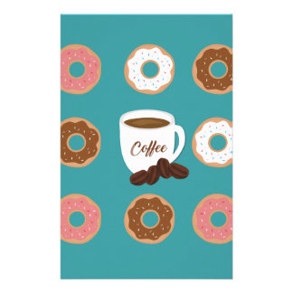 Coffee and Donuts Stationery