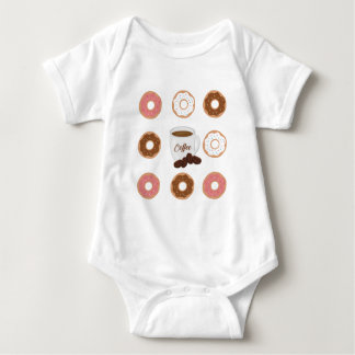 Coffee and Donuts Tote Bag Baby Bodysuit