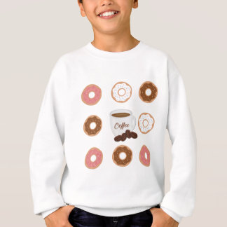 Coffee and Donuts Tote Bag Sweatshirt