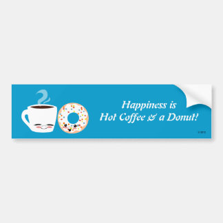 Coffee and Doughnut Pals Bumper Sticker