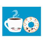 Coffee and Doughnut Pals Postcard