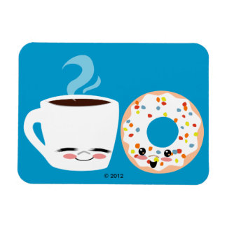 Coffee and Doughnut Pals Vinyl Magnets