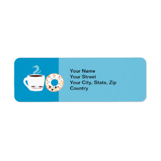 Coffee and Doughnut Pals Return Address Label