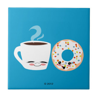 Coffee and Doughnut Pals Tile