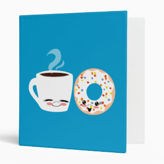 Coffee and Doughnut Pals Vinyl Binder