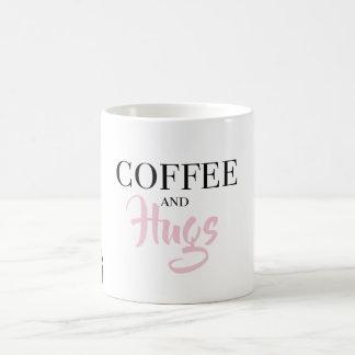 Coffee and Hugs Typography Mug
