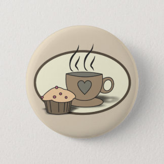 Coffee and Muffin Button for Coffee Lovers