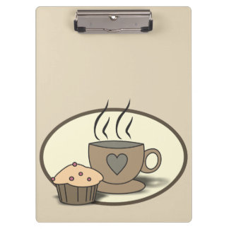 Coffee and Muffin Clipboard for Coffee Lovers