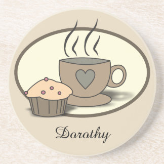 Coffee and Muffin Coaster for Coffee Lovers