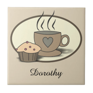 Coffee and Muffin Custom Tiles for Coffee Lovers