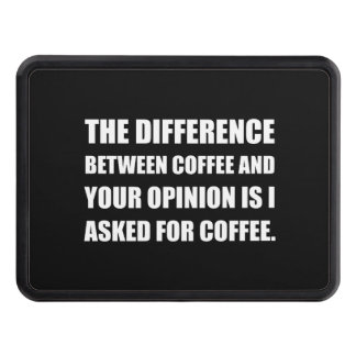 Coffee And Opinion Trailer Hitch Cover