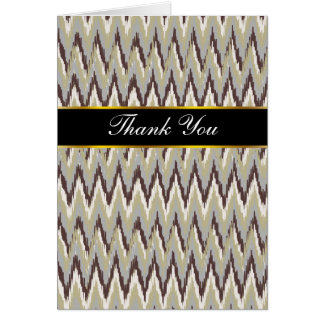 Coffee and Sage iKat ZigZag Pattern Card