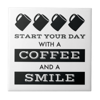 Coffee and Smile Ceramic Tile