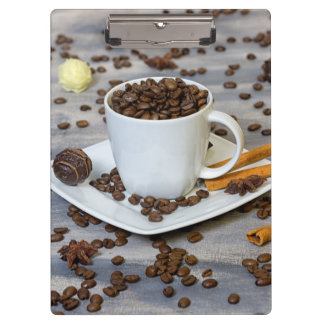 Coffee and spices clipboard