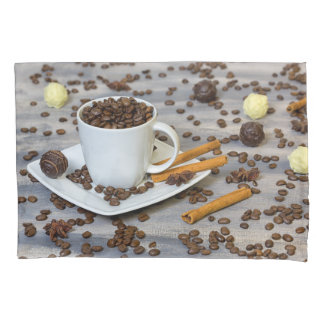 Coffee and spices pillowcase