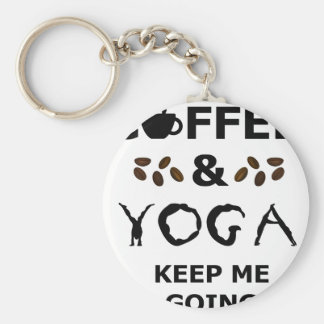 Coffee And Yoga Keep Going Basic Round Button Keychain