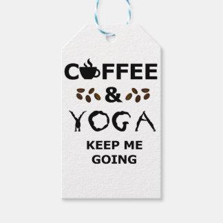 Coffee And Yoga Keep Going Gift Tags