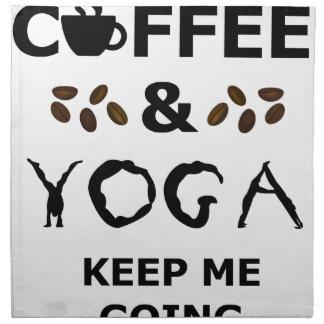 Coffee And Yoga Keep Going Napkin