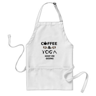 Coffee And Yoga Keep Going Standard Apron