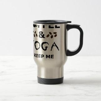 Coffee And Yoga Keep Going Travel Mug
