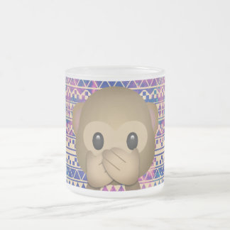 Coffee ape frosted glass coffee mug