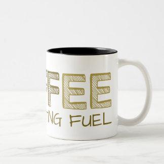 Coffee Architecting Fuel Simple Funny Cool Modern Two-Tone Coffee Mug