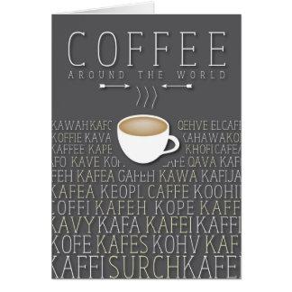 Coffee Around the World Languages Card