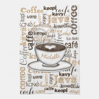 Coffee Around the World Name Kitchen Towel