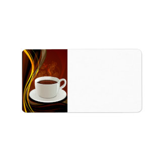 Coffee Art Cafe Address Label