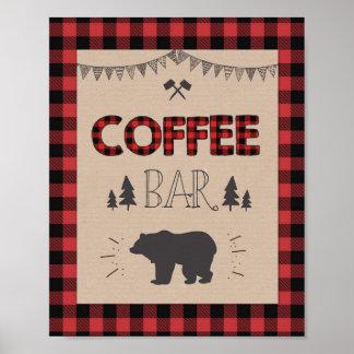 Coffee Bar Sign Lumberjack Coffee table sign