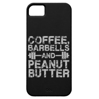 Coffee, Barbells and Peanut Butter - Funny Workout iPhone 5 Cases