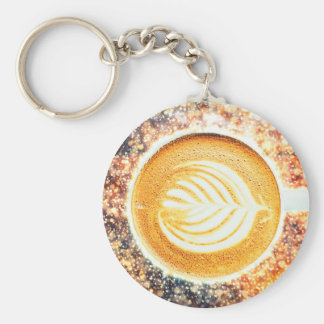 COFFEE BARISTA BASIC ROUND BUTTON KEYCHAIN
