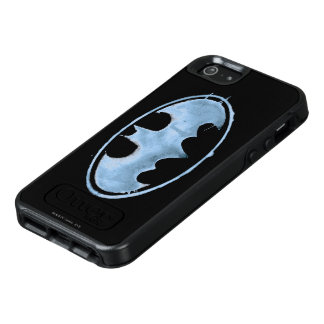 Coffee Bat Symbol - Blue OtterBox iPhone 5/5s/SE Case