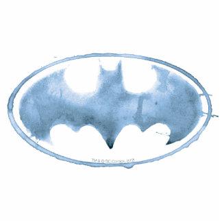 Coffee Bat Symbol - Blue Standing Photo Sculpture