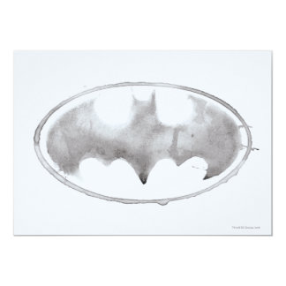 Coffee Bat Symbol - Gray Card