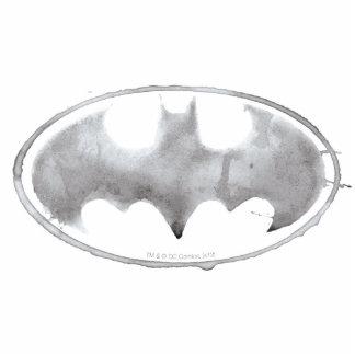Coffee Bat Symbol - Gray Cut Out