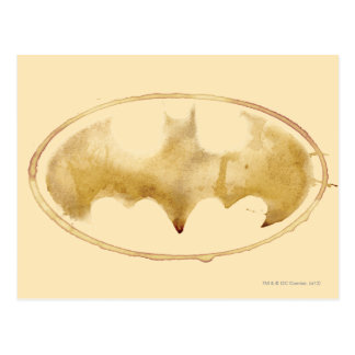 Coffee Bat Symbol Postcard