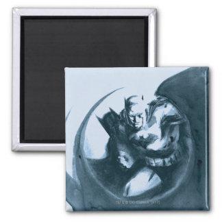 Coffee Batman Square Magnet