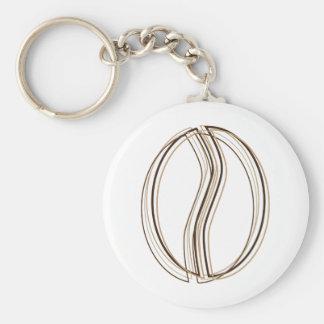 coffee bean blur basic round button keychain